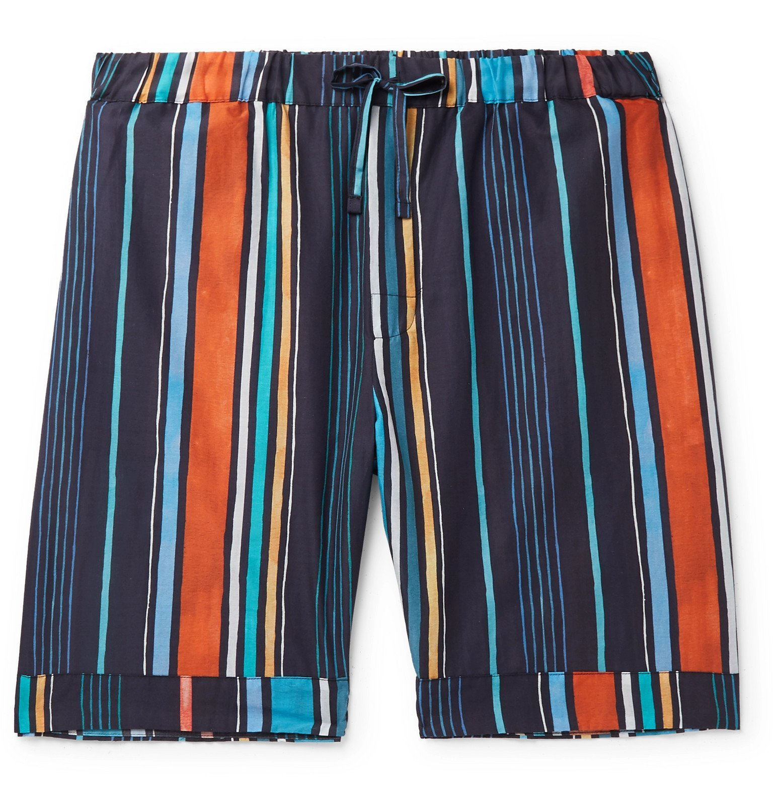 Photo: Desmond & Dempsey - Striped Cotton Pyjama Shorts - Multi
