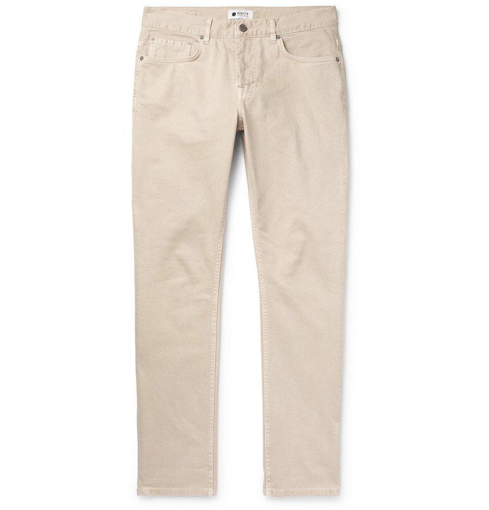 Photo: NN07 - Slim-Fit Stretch-Denim Jeans - Ecru
