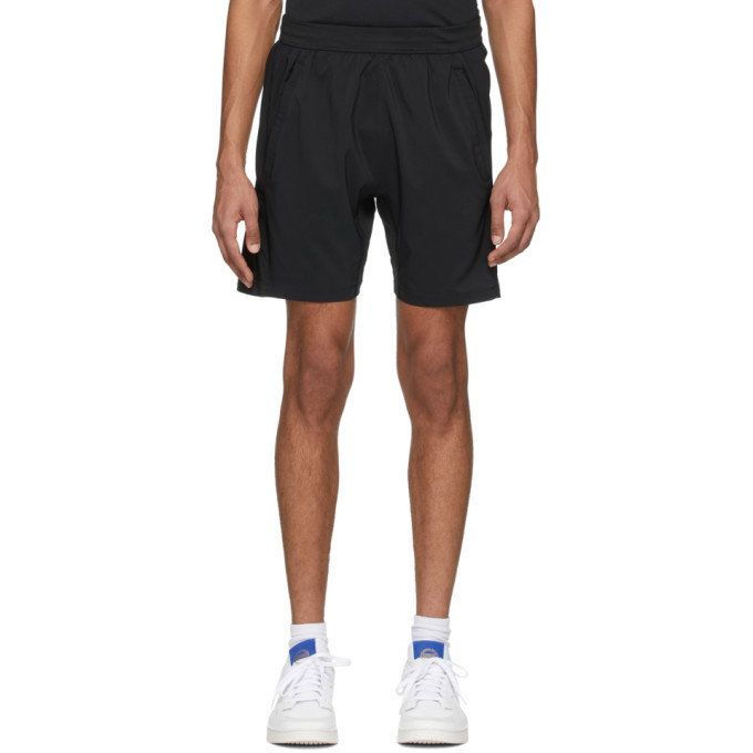 Photo: adidas Originals Black Aero 3-Stripes Shorts