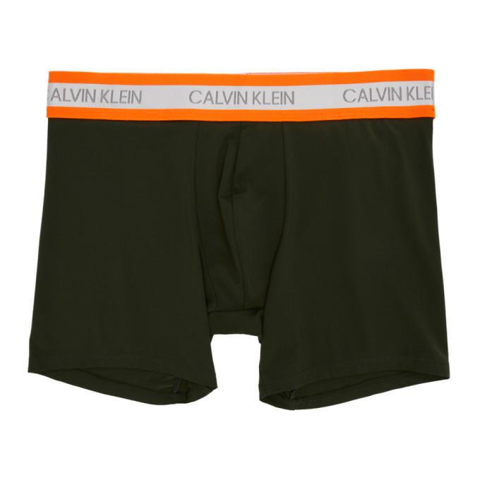 Photo: Calvin Klein Underwear Green and Orange Hazard Micro Low-Rise Boxer Briefs