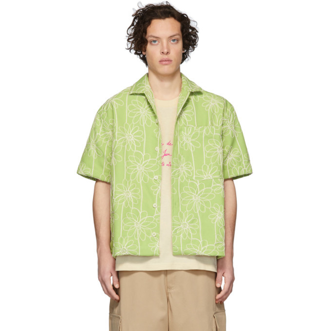 Photo: Jacquemus Green La Chemise Jean Short Sleeve Shirt