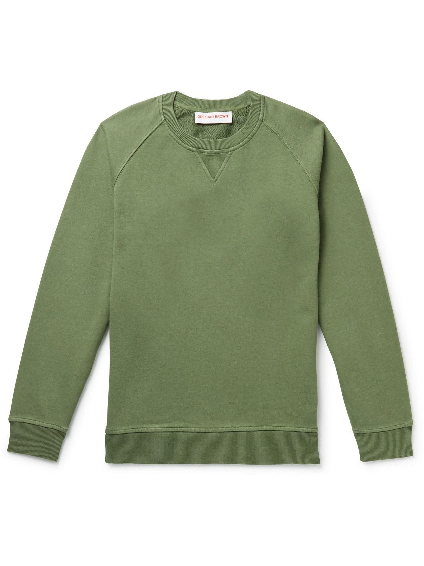 Photo: Orlebar Brown - Bingham Cotton-Jersey Sweatshirt - Green