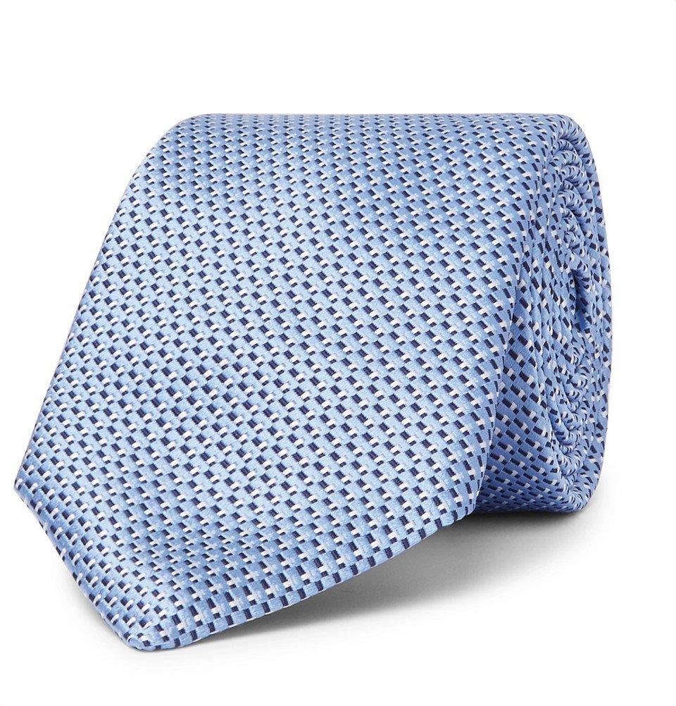 Photo: Hugo Boss - 8cm Silk-Jacquard Tie - Blue