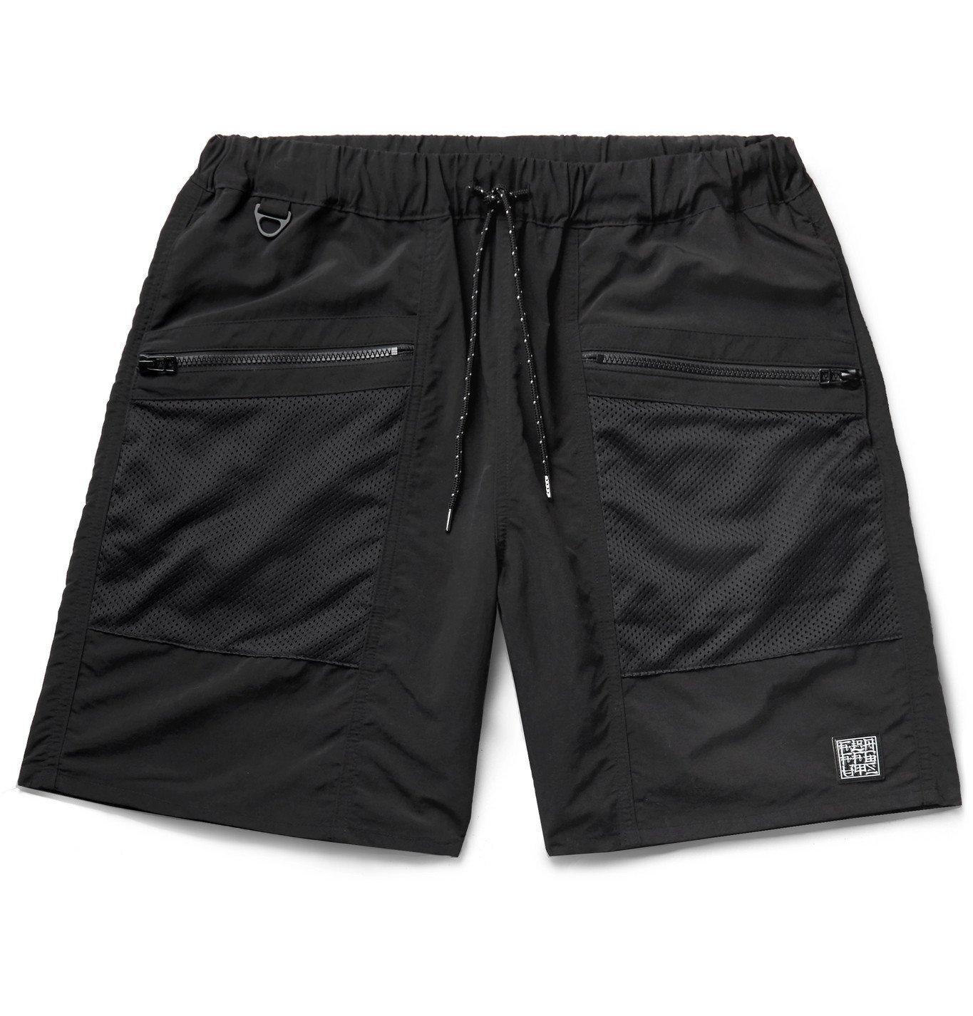 Photo: Flagstuff - Mesh-Trimmed Swim Shorts - Black