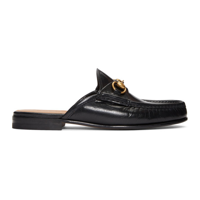 Photo: Gucci Black Slip-On Roos Loafers