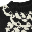 Sacai - Intarsia Wool-Blend Sweater - Black