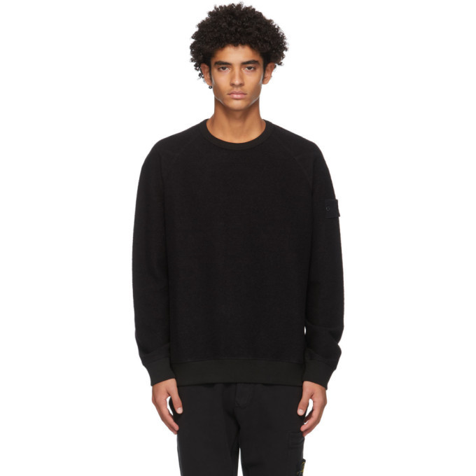 Photo: Stone Island Black Raglan Ghost Sweatshirt
