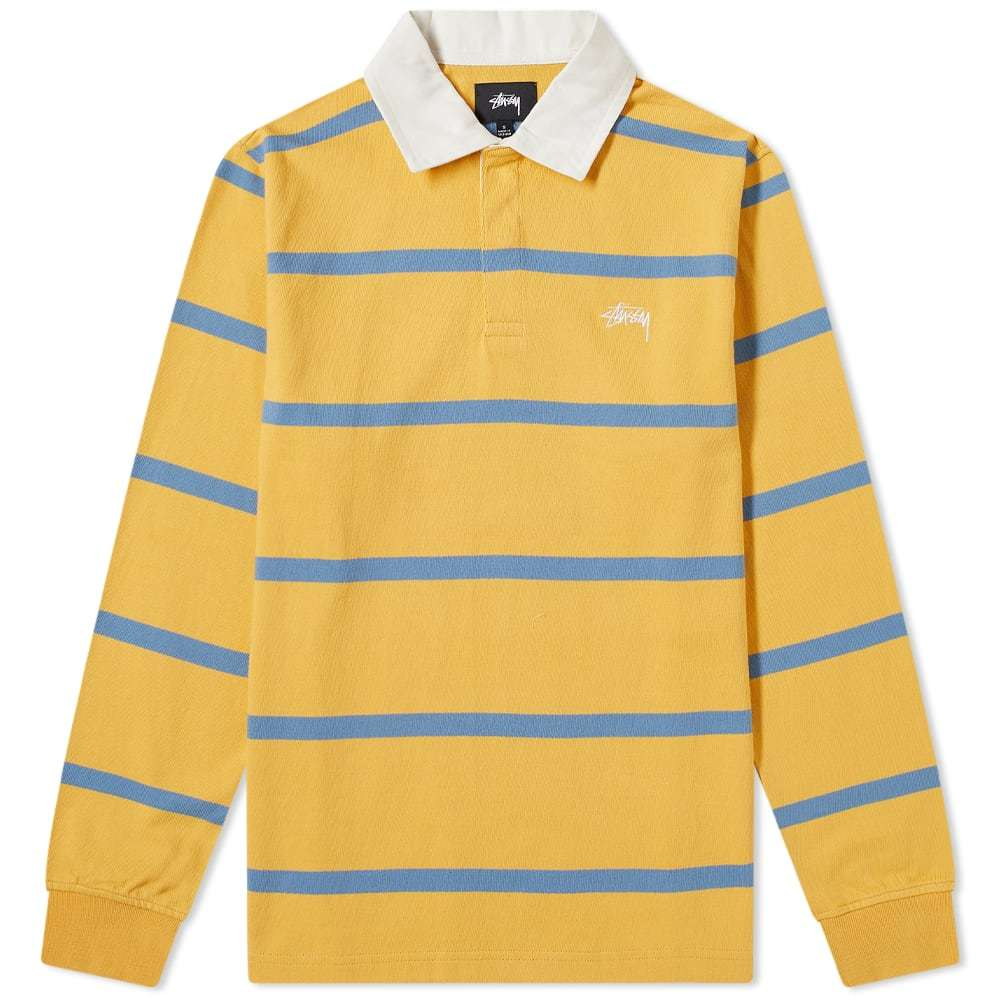 Photo: Stussy Hill Stripe Rugby Shirt