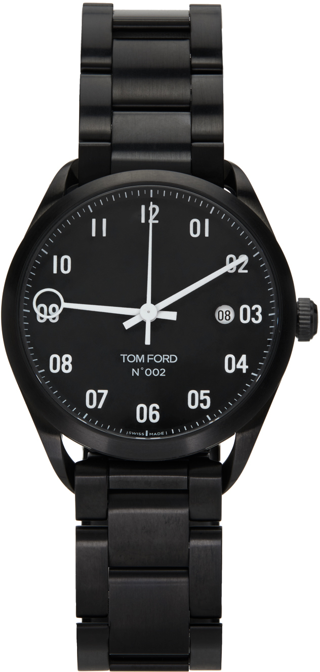 Photo: TOM FORD Black Stainless Steel 002 Watch