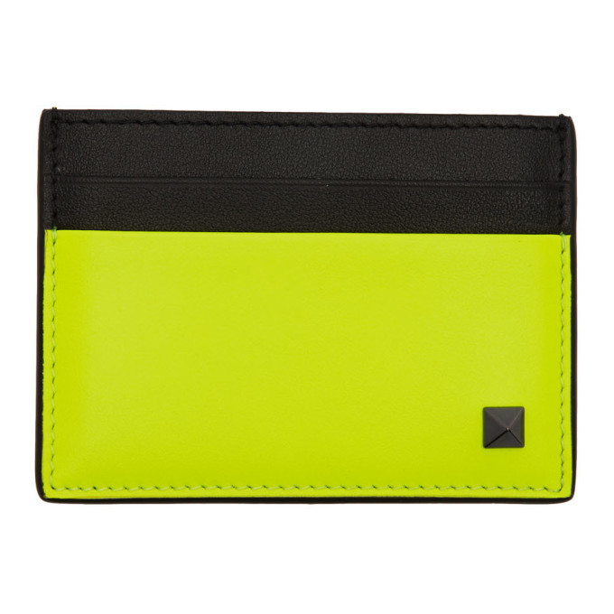 Photo: Valentino Yellow Valentino Garavani Rockstud Card Holder