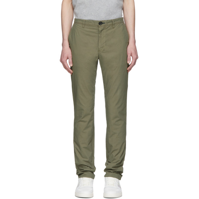 Photo: PS by Paul Smith Khaki Slub Cotton Chinos
