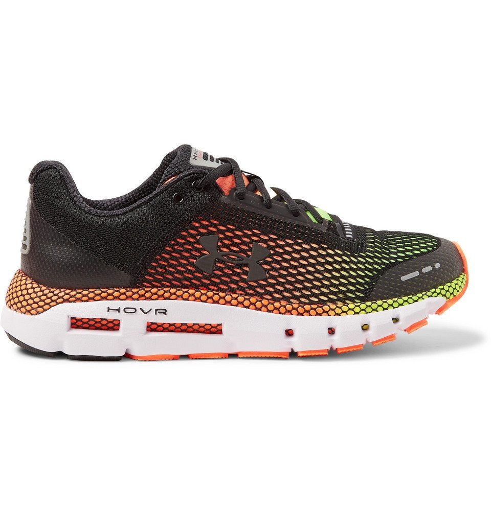 Photo: Under Armour - HOVR Infinite Mesh and Rubber Running Sneakers - Black