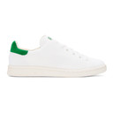 adidas Originals White and Green Stan Smith OG PK Sneakers