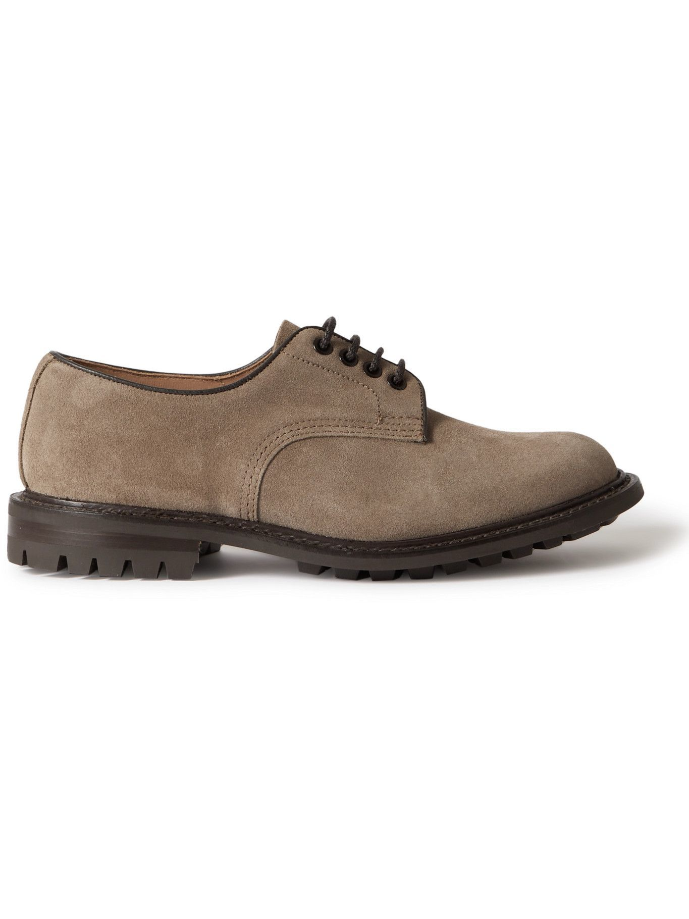 Photo: Tricker's - Daniel Leather-Trimmed Suede Derby Shoes - Brown