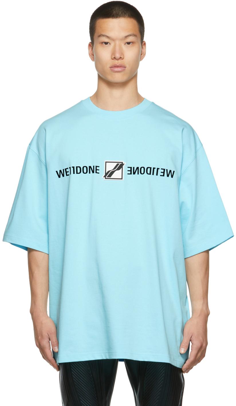 Photo: We11done Blue Mirror Logo T-Shirt
