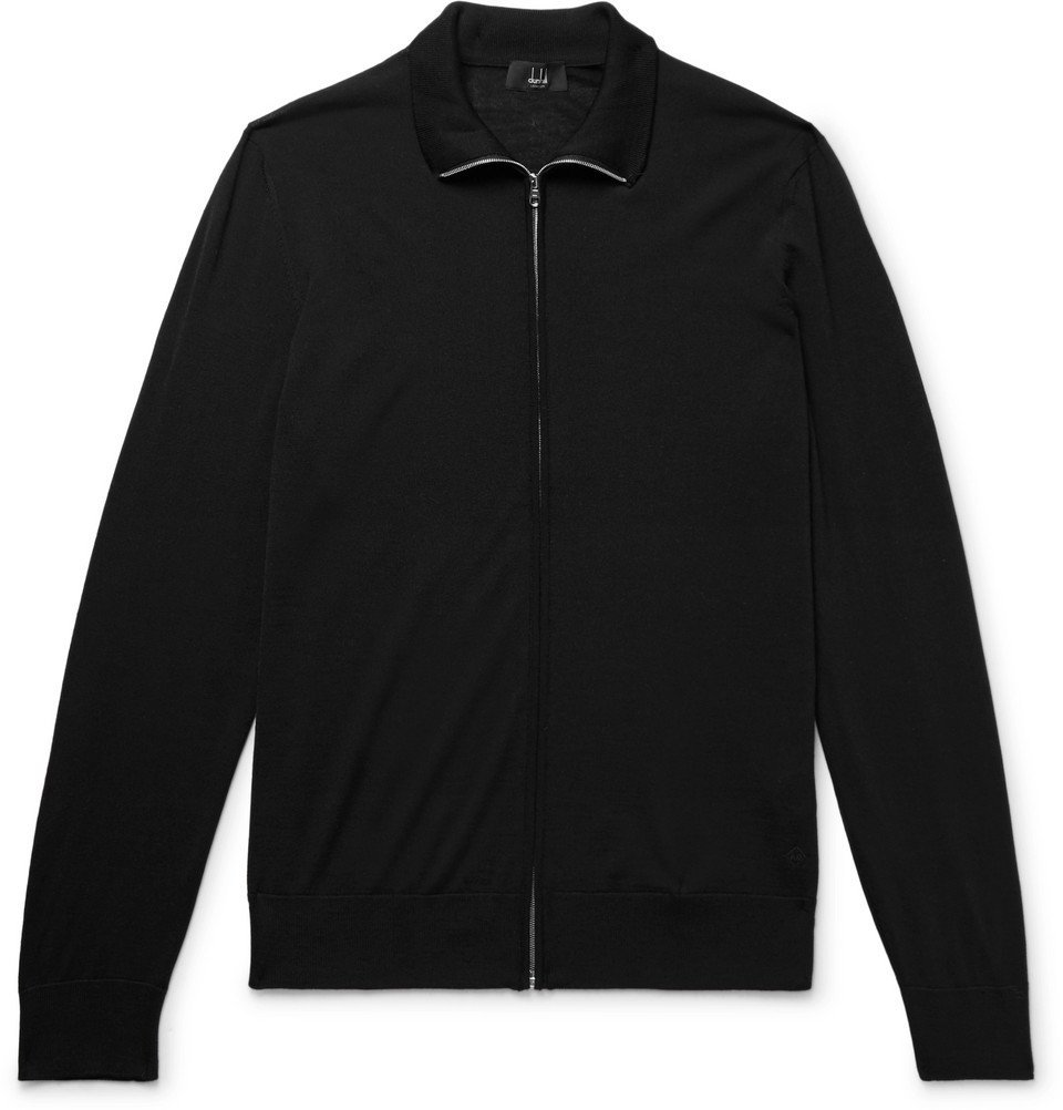 Dunhill - Wool Zip-Up Cardigan - Men - Black