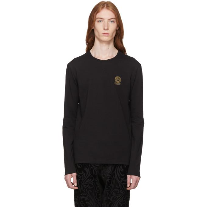 Photo: Versace Underwear Black Long Sleeve Small Medusa T-Shirt