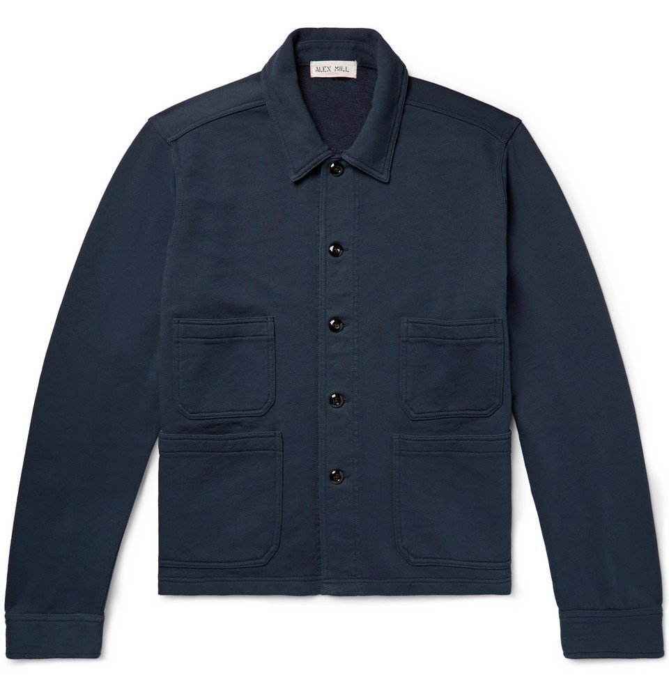 Photo: Alex Mill - Loopback Cotton-Jersey Chore Jacket - Navy