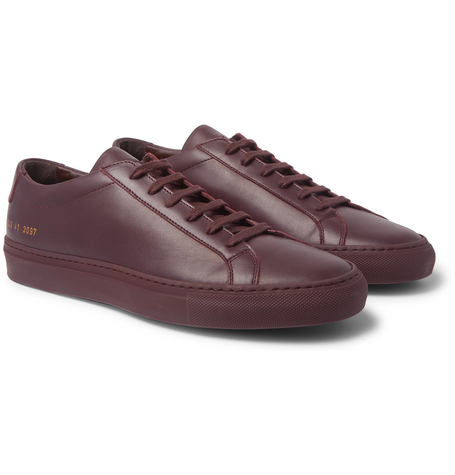 Photo: Common Projects - Original Achilles Leather Sneakers - Burgundy