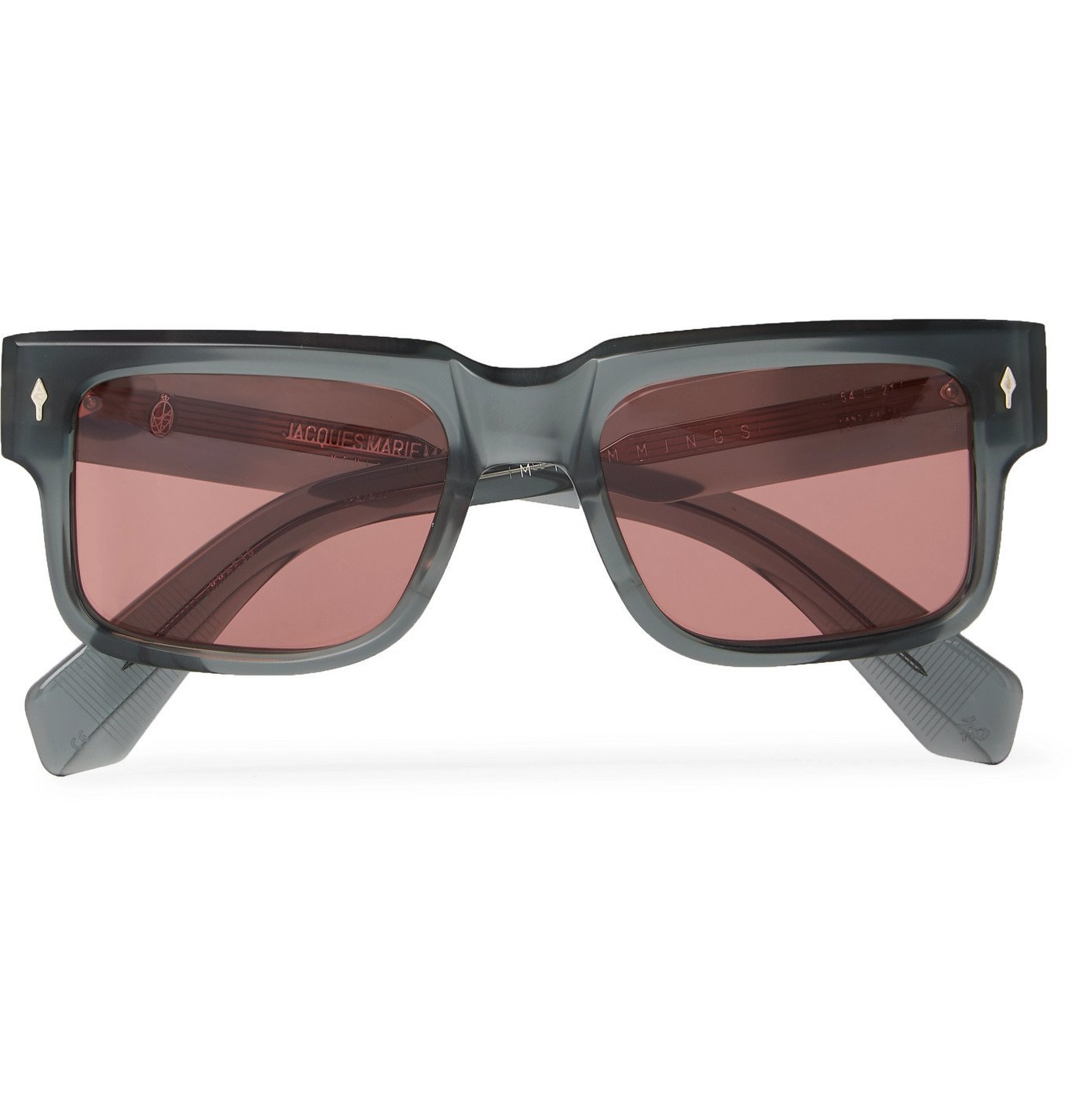 Photo: JACQUES MARIE MAGE - Hemmings Square-Frame Acetate Sunglasses - Green