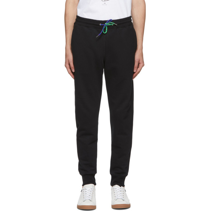 Photo: PS by Paul Smith Black Slim Jogger Lounge Pants
