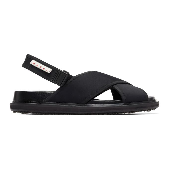 Photo: Marni Black Logo Sandals
