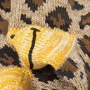 KAPITAL - Smiley Leopard-Jacquard Cotton-Blend Socks - Animal print