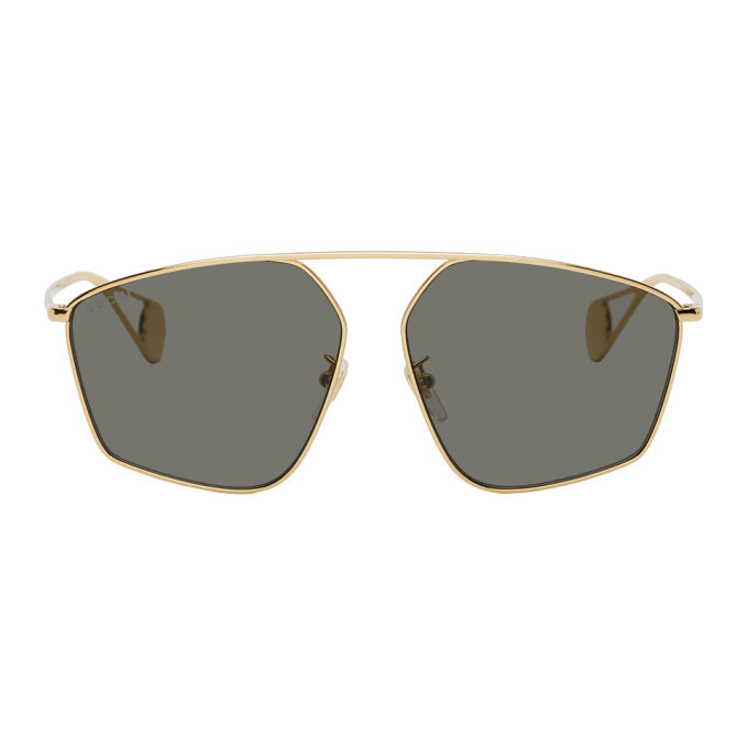 Photo: Gucci Gold Evolution Oversized Sunglasses