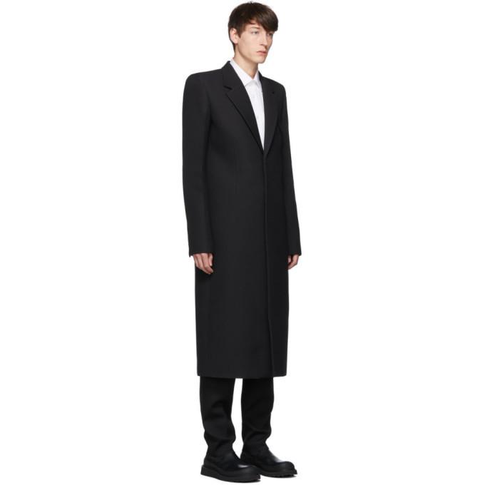 Bottega Veneta Black Compact Wool Coat