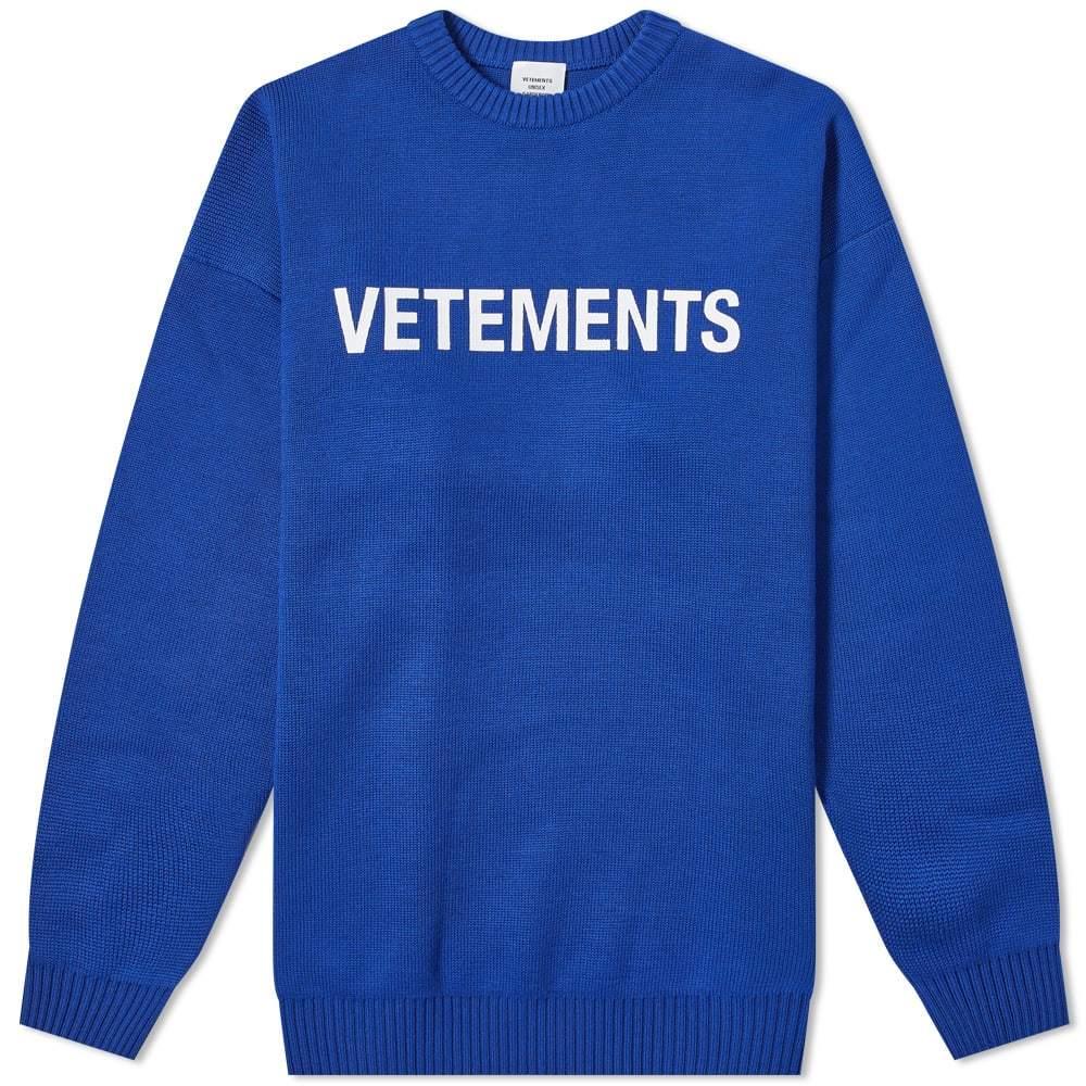 Photo: VETEMENTS Logo Intarsia Knit