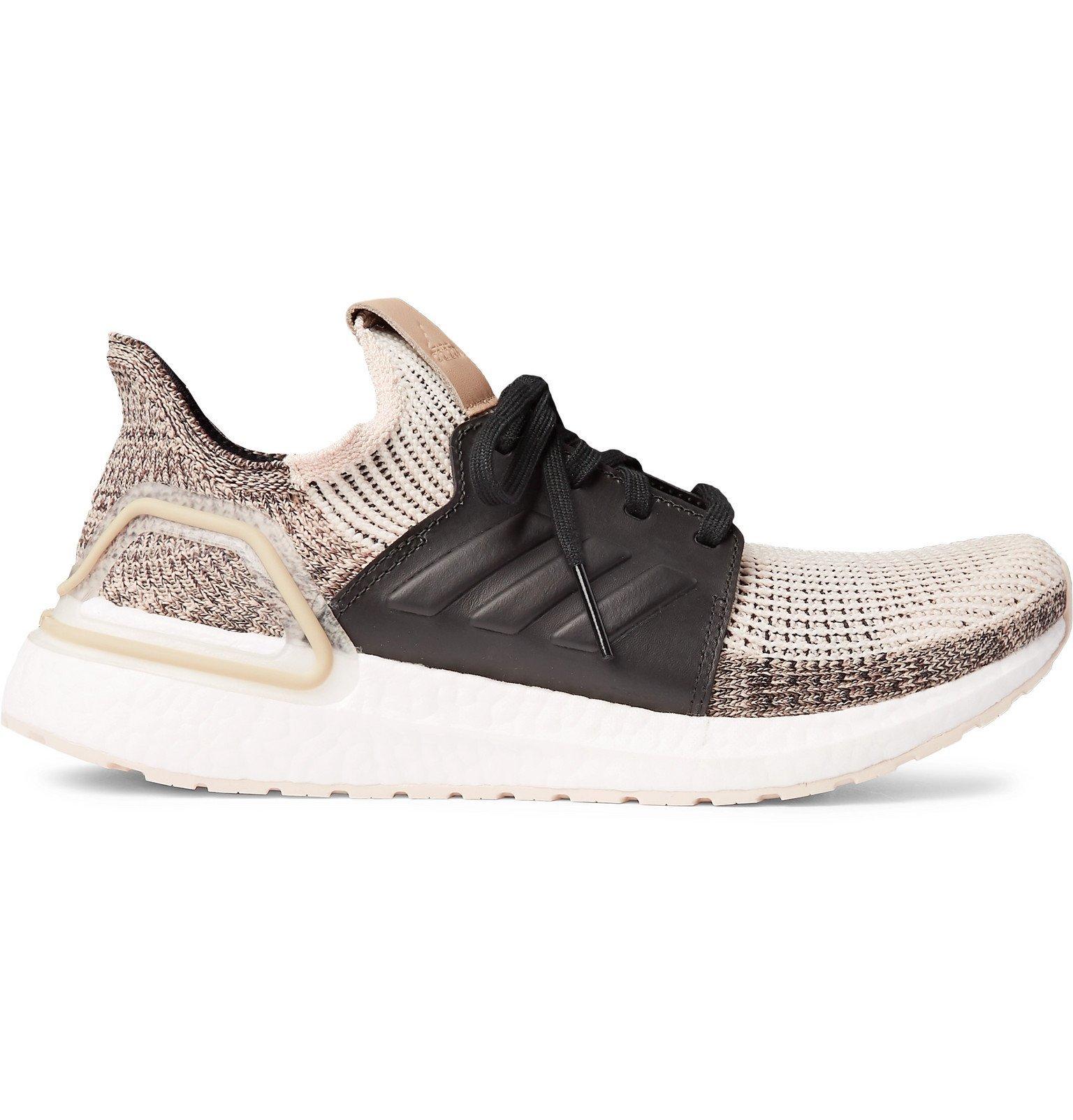 Photo: Adidas Sport - UltraBOOST 19 Rubber-Trimmed Primeknit Running Sneakers - Neutrals