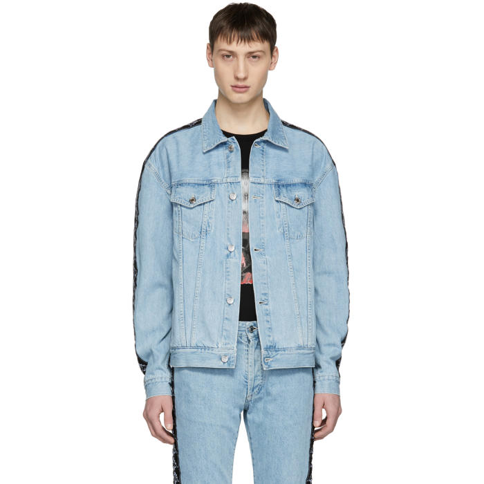 Photo: Marcelo Burlon County of Milan Blue Kappa Edition Denim Jacket