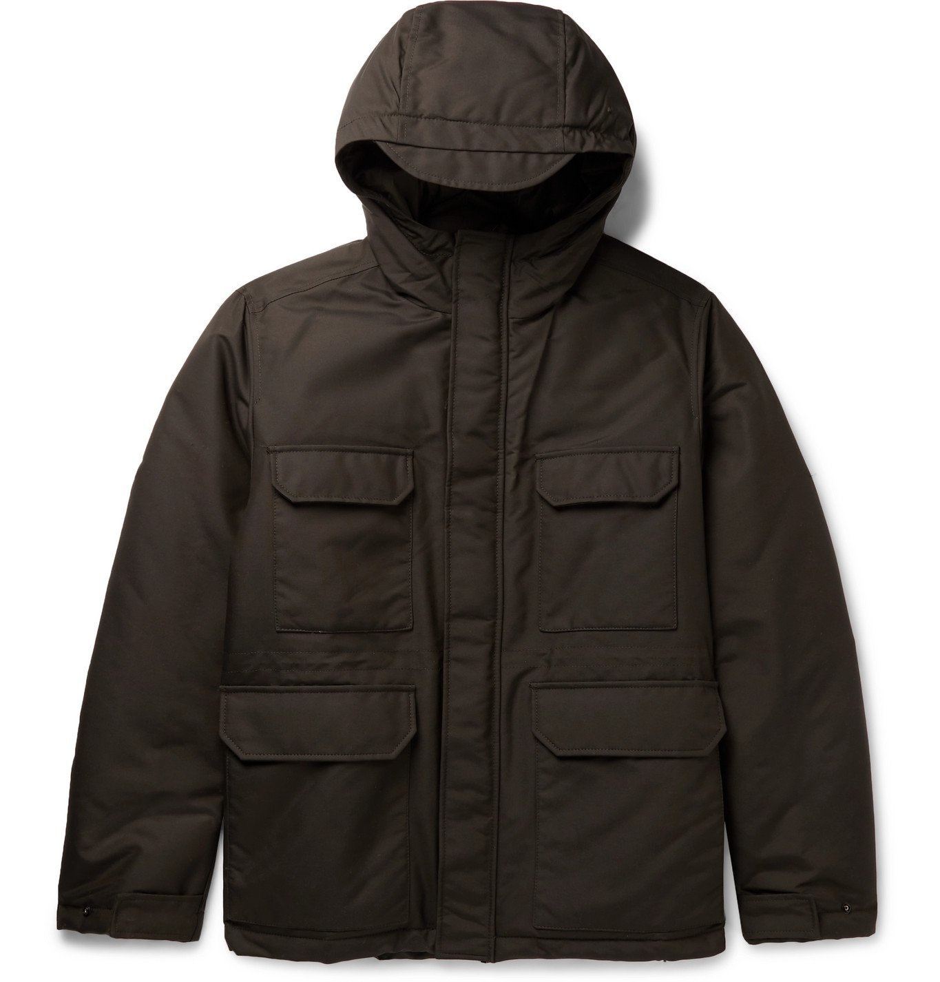 Photo: Norse Projects - Nunk Padded ECONYL Hooded Jacket - Green