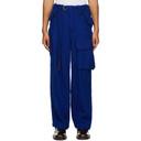 Sacai Blue Wool Solid Shrivel Trousers