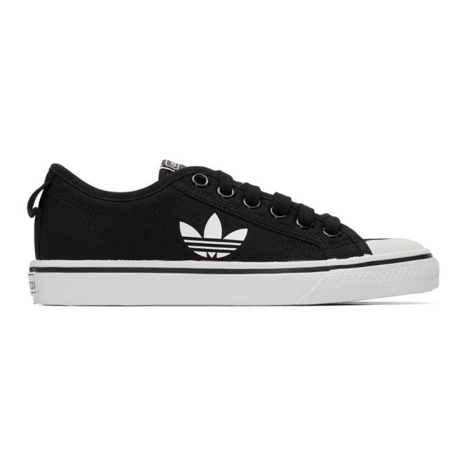 Photo: adidas Originals Black Nizza Trefoil Sneakers