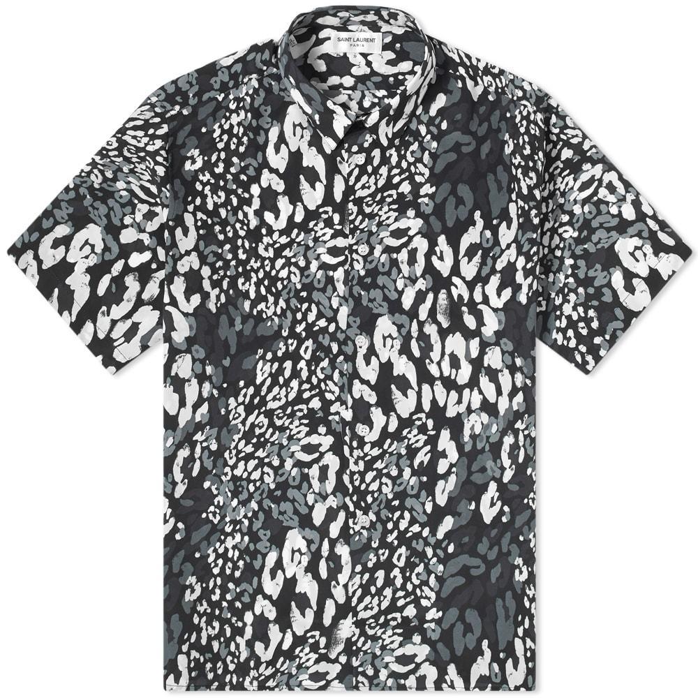 Photo: Saint Laurent Tricolour Leopard Print Short Sleeve  Shirt