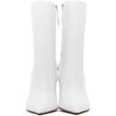 Amina Muaddi White Pernille Wedge Boots