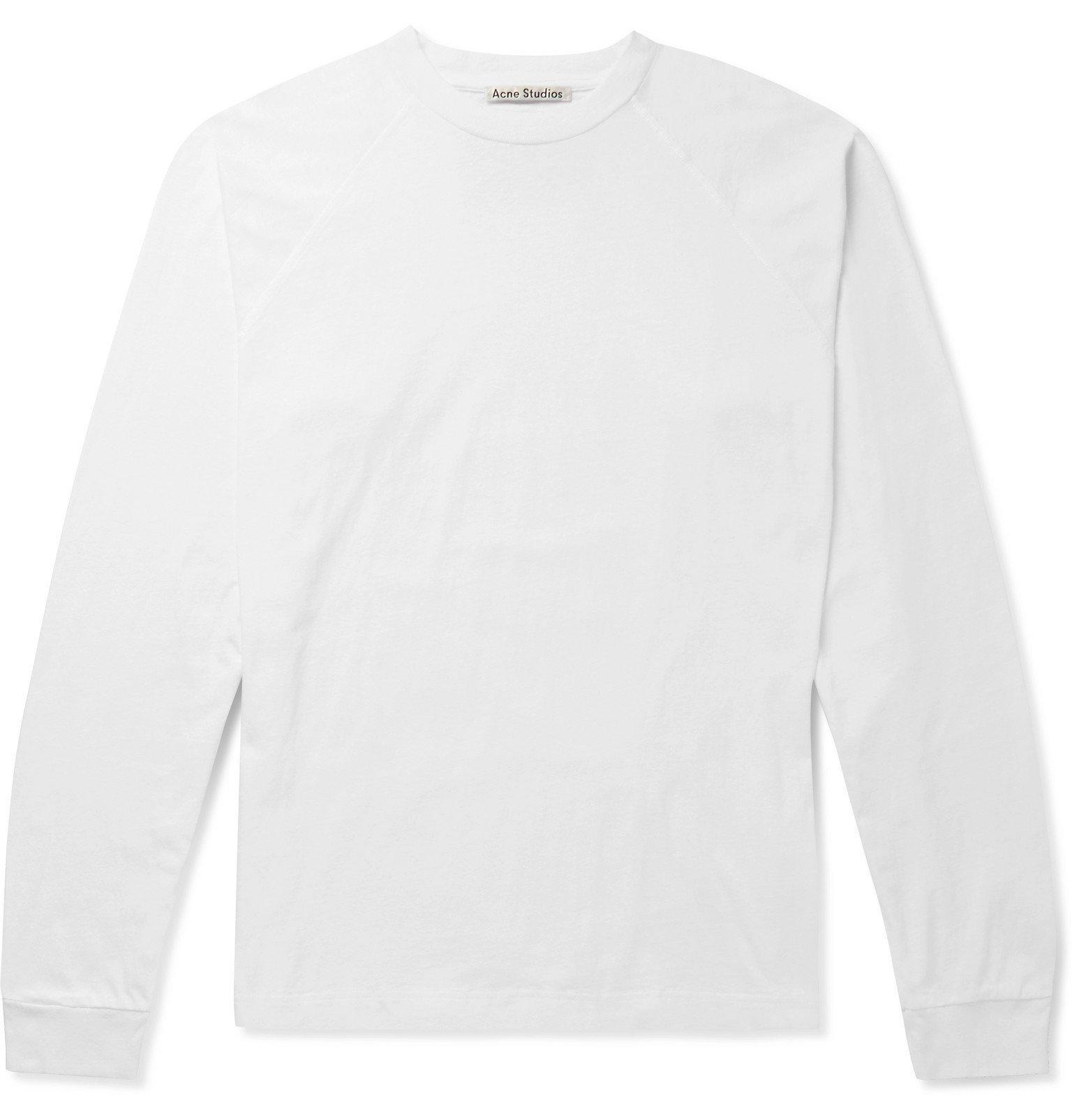 Photo: Acne Studios - Edward Logo-Appliquéd Cotton-Jersey T-Shirt - White