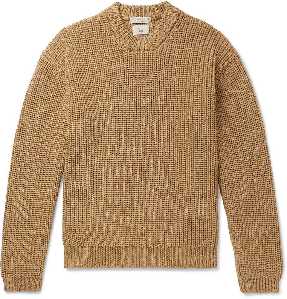 Photo: Bottega Veneta - Ribbed Wool Sweater - Camel