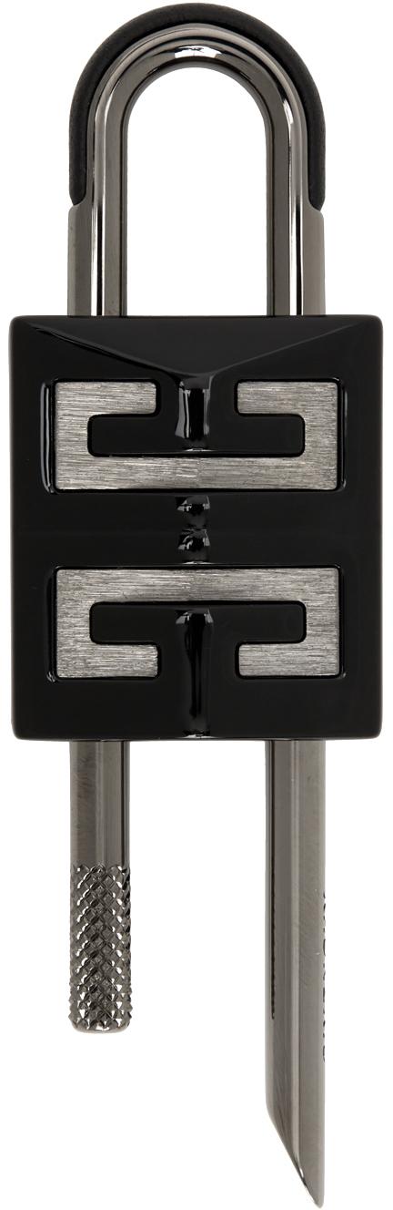 Photo: Givenchy Black Small 4G Padlock Keychain