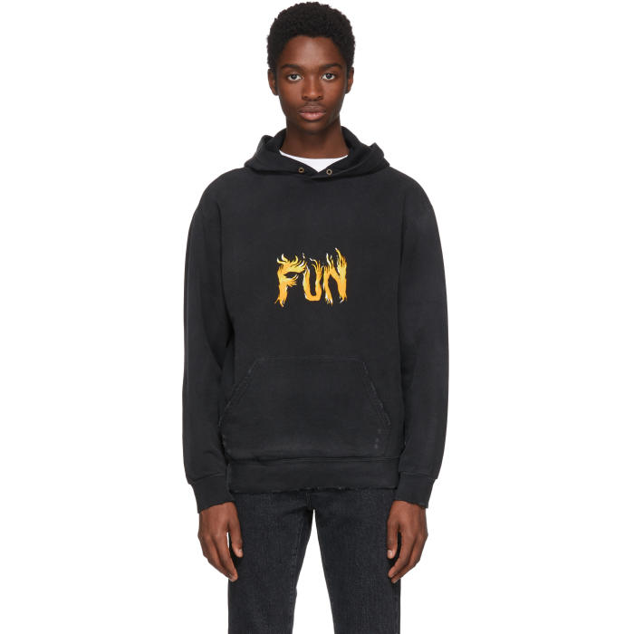 Photo: Givenchy Black Fun Washed Hoodie