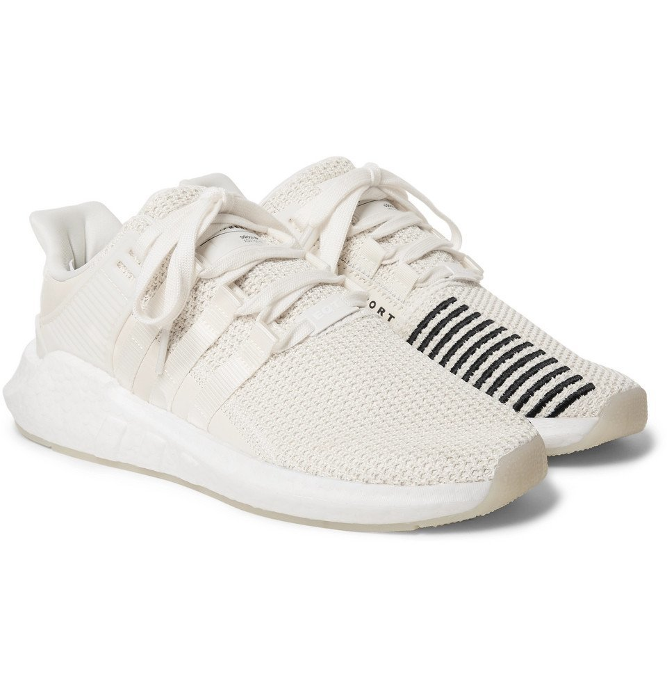 Photo: adidas Originals - EQT Support 93/17 Stretch-Knit Sneakers - Men - Off-white