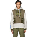 MCQ Grey and Brown Armor Hoodie