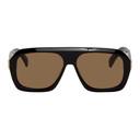 Dunhill Black Shiny Rectangular Ferry Sunglasses