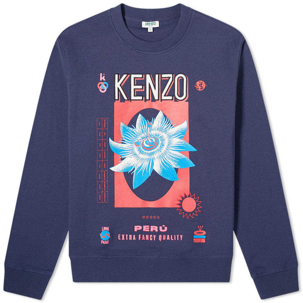 d60a3b15 Kenzo Woven Dragon Embroidered Crew Sweat Charcoal Kenzo