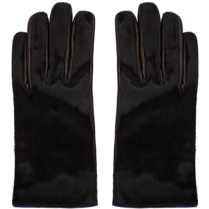 Photo: Paul Smith Black Calf Hair Gloves