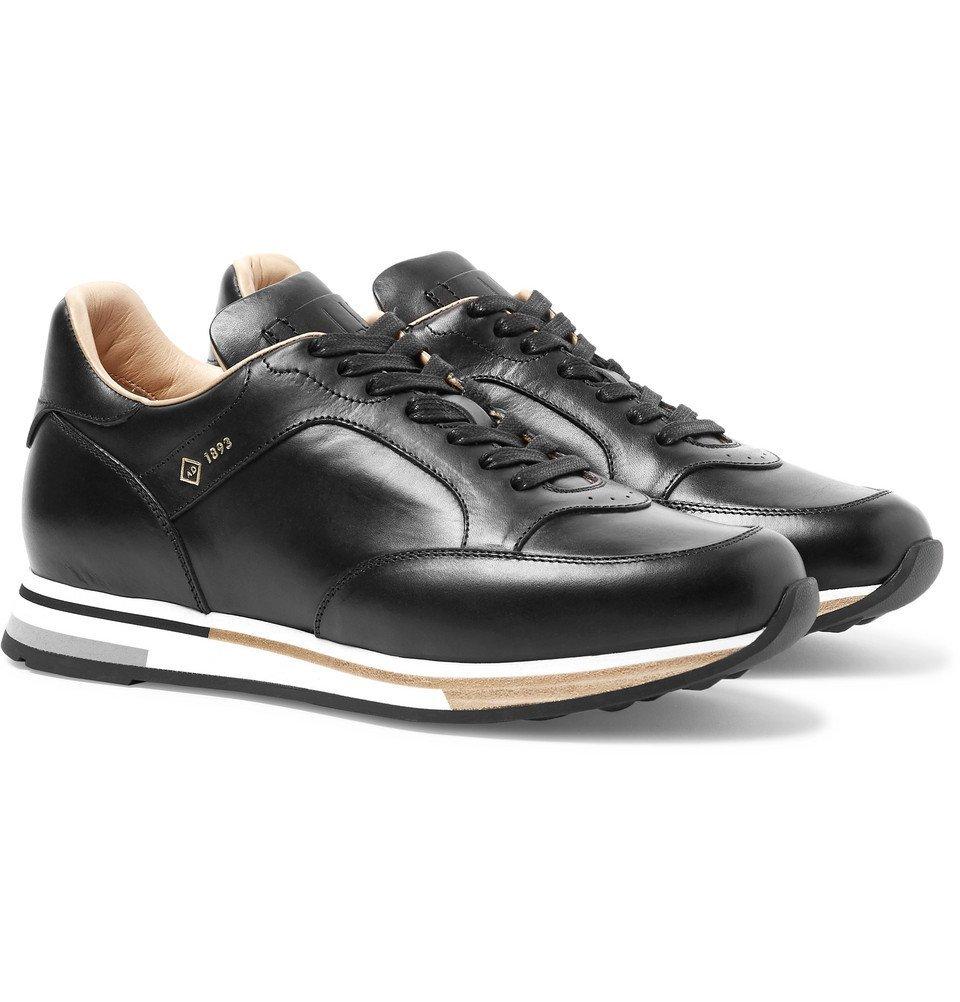 Dunhill - Duke Polished-Leather Sneakers - Men - Black
