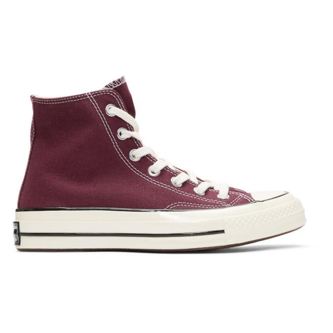 Photo: Converse Burgundy Chuck 70 High Sneakers