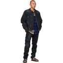 Sacai Black Denim Oxford and Knit Jacket