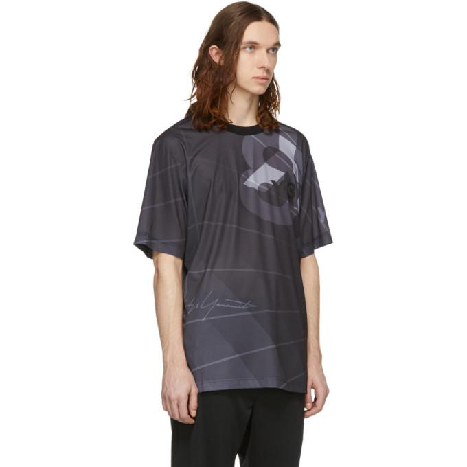 Y-3 Black AOP Football T-Shirt